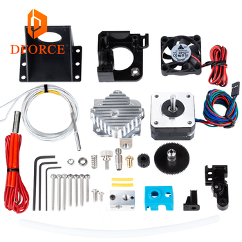 DFORCE 3d printer Titan Aero V6 hotend extruder full kit AERO Extruder PT100 free shipping reprap mk8 i3 titan extruder mellow all metal nf crazy hotend v6 copper nozzle for ender 3 cr10 prusa i3 mk3s alfawise titan bmg extruder 3d printer parts