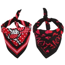Pet Dog Cotton Bandana Scarf Red Heart Design Dogs Cats Bib Grooming Accessories Triangular Bandage Collar For Small Large