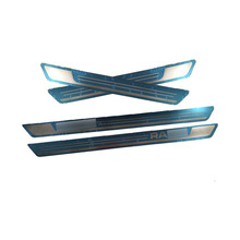For Skoda Rapid 2012-2018 Accessories Door Sills Scuff Plates Stainless Steel Pedal Trim Guard Protectors Car Sticker Styling