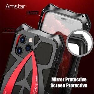 Image 3 - Amstar 360 pełna ochronna obudowa pancerza dla iPhone 11 Pro Max metalowa rama silikonowa, odporna na wstrząsy pokrywy skrzynka dla iPhone X XS Max XR