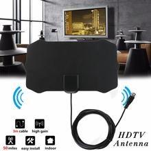 Amplifier Antennas Receiver Digital Aerial TV HDTV Radius Signal 80-Miles Mini Indoor