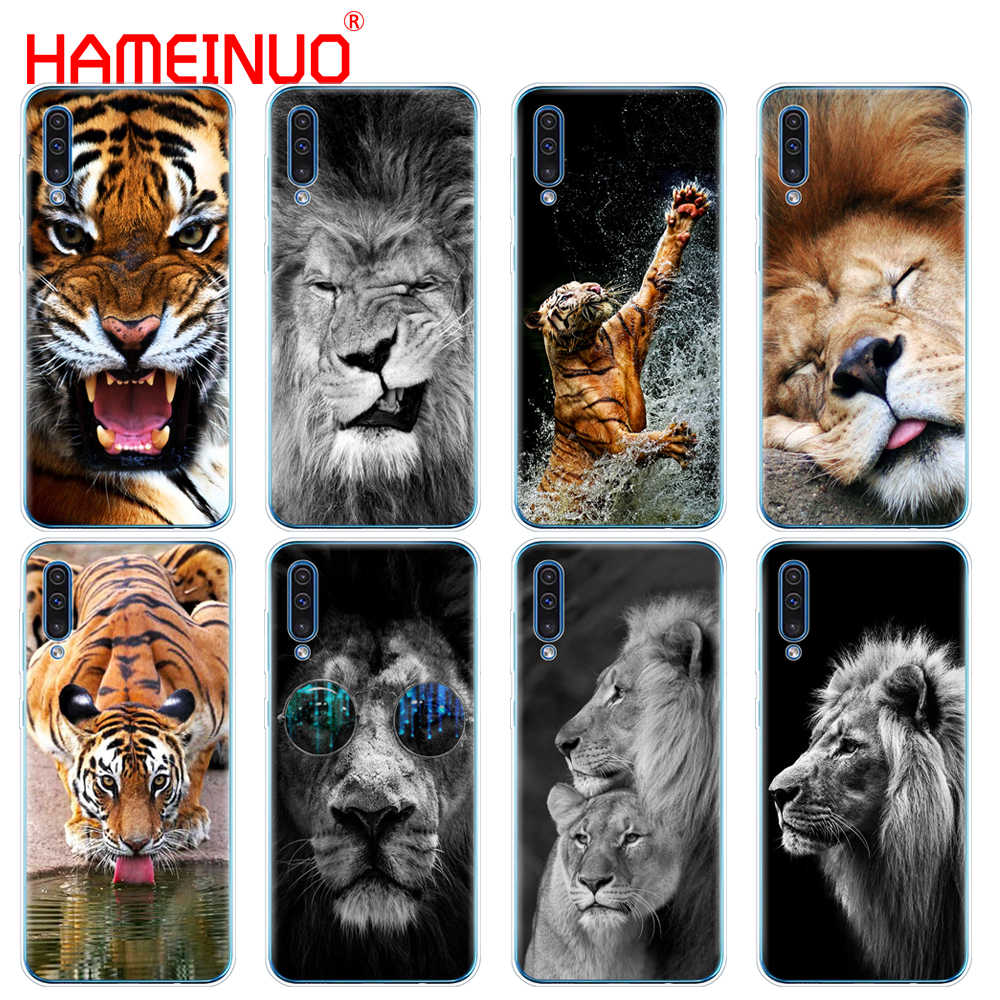 Silicon case capa do telefone para Samsung Galaxy S10 E PLUS A10 A20 A30 A40 A50 A70 A10E A20E M20 Leão lovely Fashion Animal do tigre