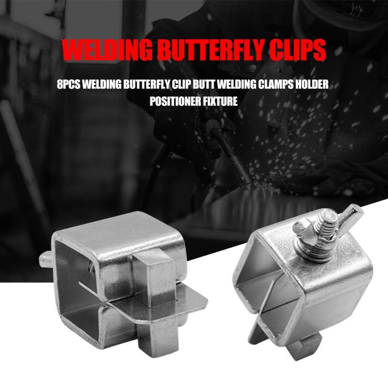 8pcs Welding Butterfly Clip Butt Welding Clamps Holder Positioner Fixture Adjustable For Welding Clamps