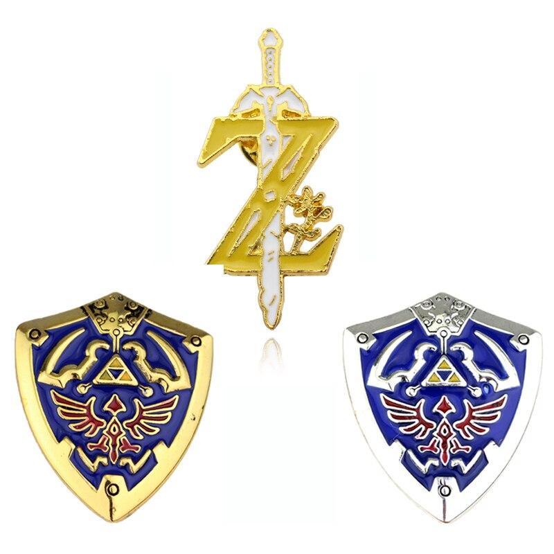 The Legend of Zelda Hylian Shield Sword Keychain Collier 10pcs Collection Set