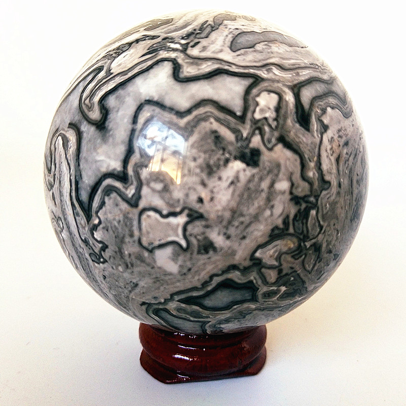 Natural Picasso Stone Jasper Crystals Ball Divination Stones Sphere Wedding Dress Photography Decoration