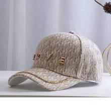 2021 New Trendy Women's Hat Fashion Brand Sparkling Diamond LOVE Letter Baseball Cap for Women Retro Checkered Caps Girls