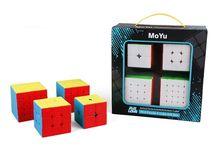 MoYu MoFangJiaoShi Meilong 2X2 3X3 4X4 5X5 Tốc Độ Cube Tặng Hộp Đóng Gói chuyên Nghiệp Xếp Hình Cubing Lớp Học MF2S MF3RS MF4S MF5