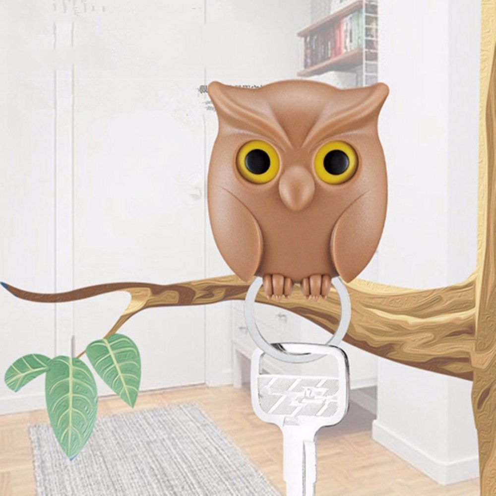 1 PCS Night Owl Magnetic Wall Key Holder Magnets Keep Keychains