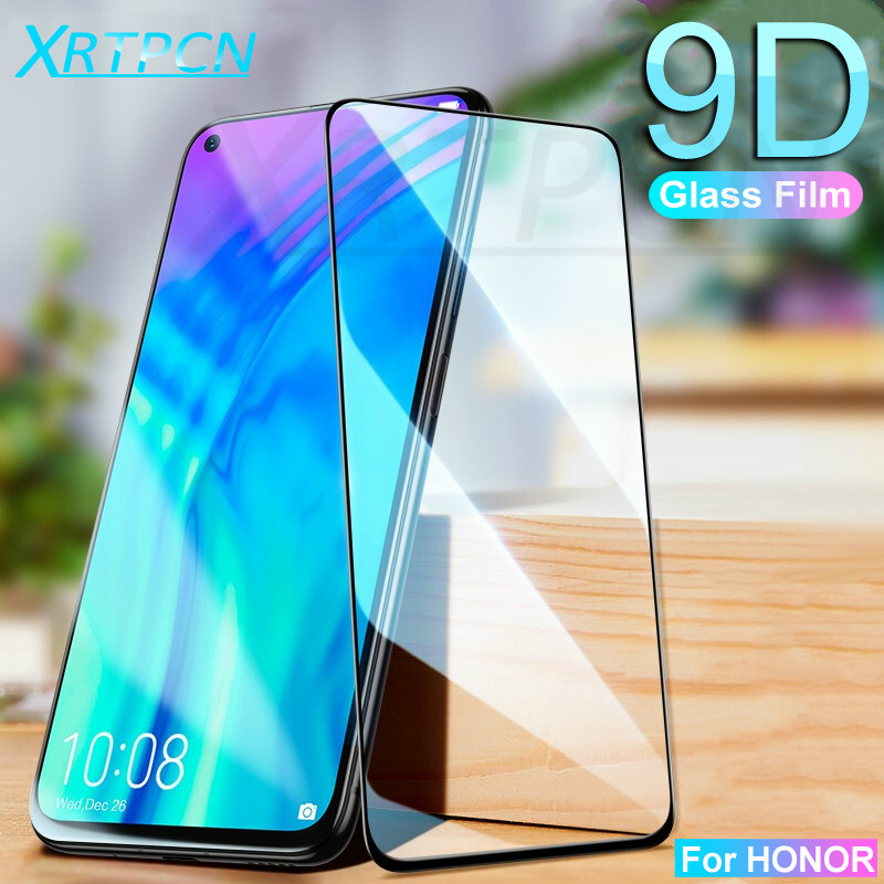 9D Tempered Glass On The For Huawei Honor 10 20 Lite 10i 20i V10 V20 8X 9X 8A 8C 8S Screen Protector Phone Protective Glass Film