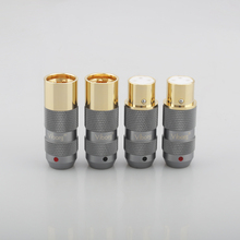 4Pieces Hifi  Audio Cable Balance 3Pins Viborg 99.998% pure copper 24K Gold plated XLR Connector Plug