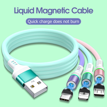 Liquid silicone Magnetic Cable Micro USB Type C Phone Charger Fast Charging Data Cord For Samsung Huawei iPhone 11 Max Cable liquid silicone magnetic cable micro usb type c fast charging cable for samsung xiaomi iphone 11 max magnet charge data usb cord