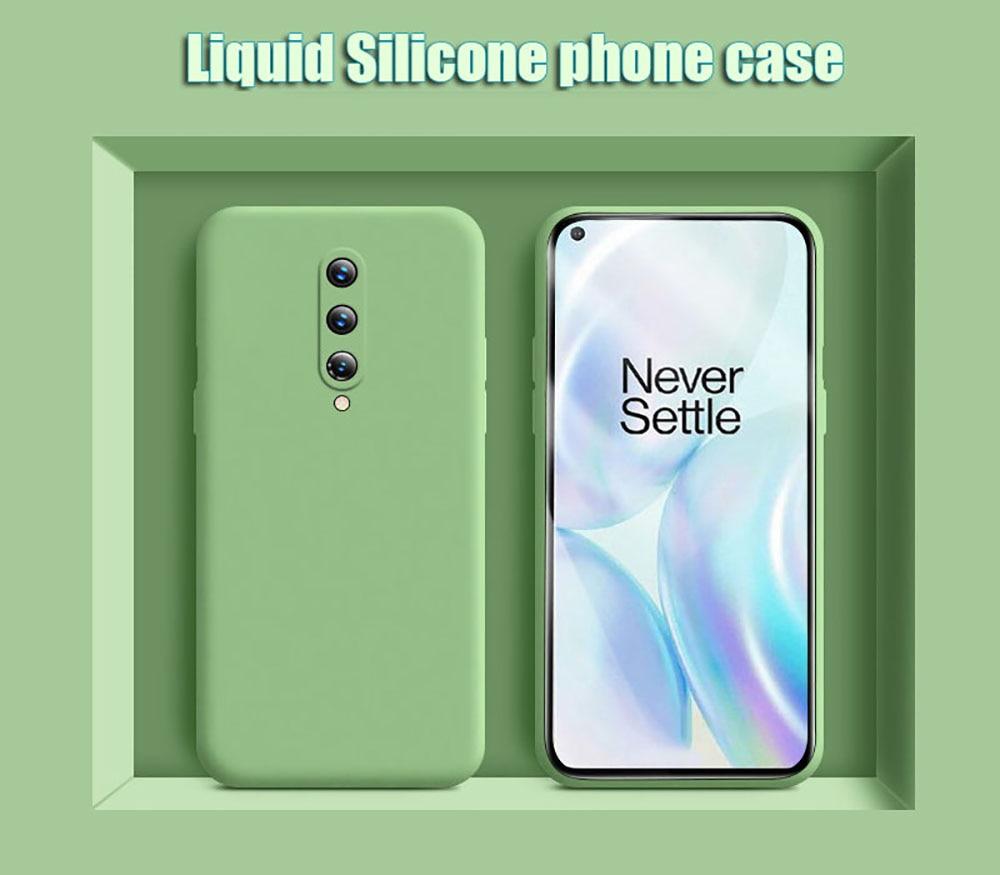 For Oneplus 8 Pro Case Liquid Silicone Soft Rubber Back Protector Coque Funda For Oneplus 8 Pro Cover Case 7 Pro
