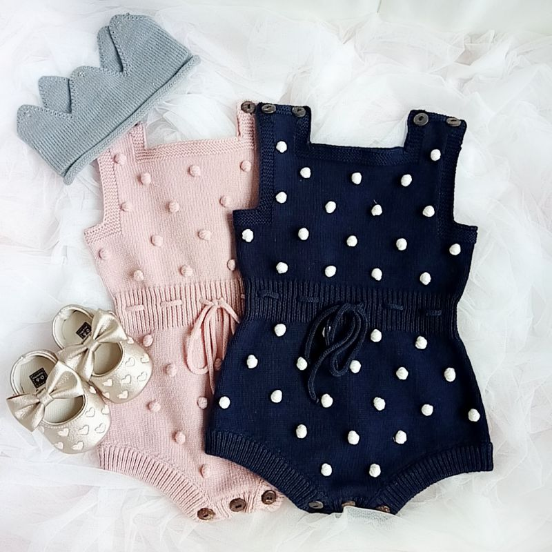 Baby Knitting Rompers Cute Overalls Newborn Baby Girls Clothes Infant Baby Girl Jumpsuit Toddler Clothes