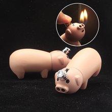 Мини свинья Забавный газовые зажигалки сигареты сигары трубы