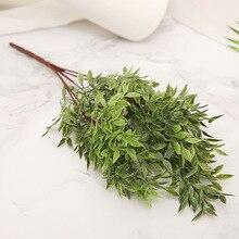 Artificial Plant Green Grass Plastic Leaf Pant Simulation Flower Green Plant Office Desktop Decor Fake Flower Artificial Plant