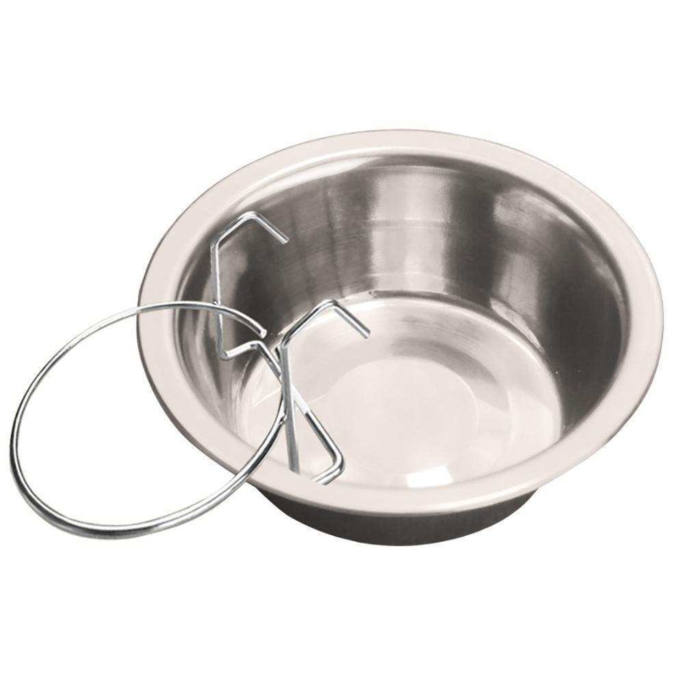 150ml Stainless Steel Hanging Dog Feeding Bowl Water Dish Feeder Pet Supplies Hot