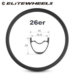 Image 1 - 26er Mountain Bike Rim T700 Carbon Fiber Made hookless rims 24mm Depth 24mm Width tubeless For XC Condition bicycle MTB Wheels