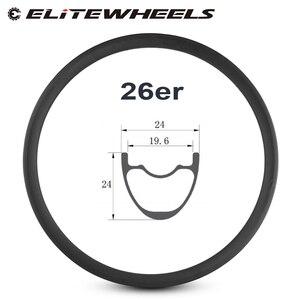 Image 1 - 26er mountain bike rim T700 carbon fiber made carbon mtb rim 24mm depth 24mm width for XC condition