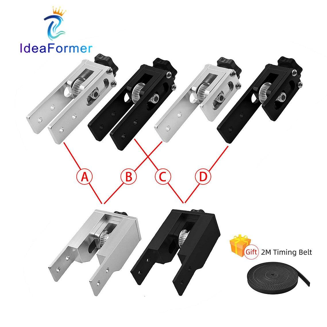 2020 & 2040 Timing Belt Stretch Tensioner Combination Set For V Slot Aluminum Profile Anet Creality Ender-3 CNC 3D Printer Parts