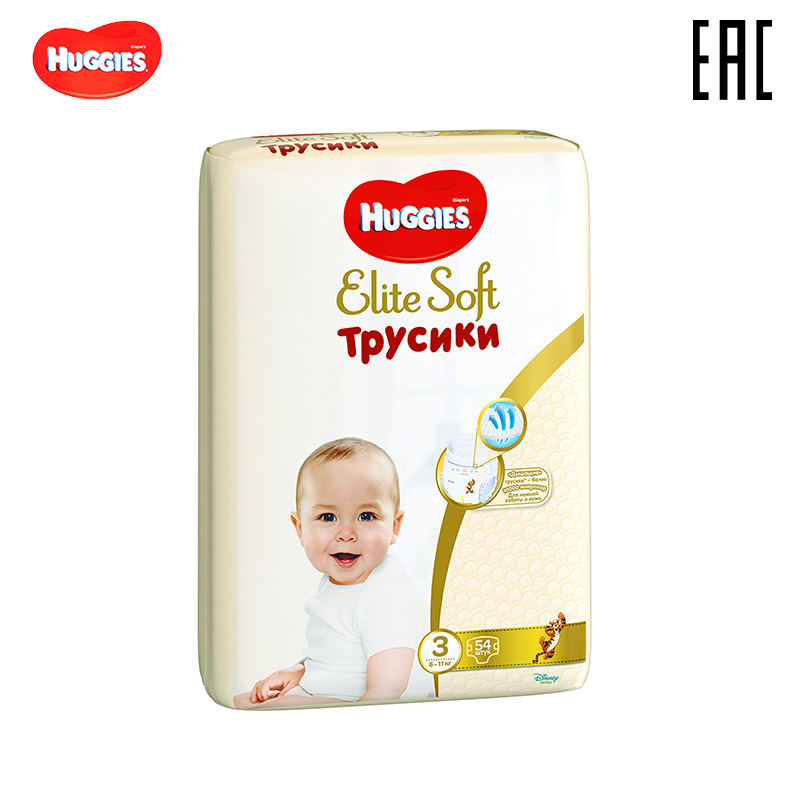 Panties Huggies Elite Soft 6-11 Kg (3) 54 PCs