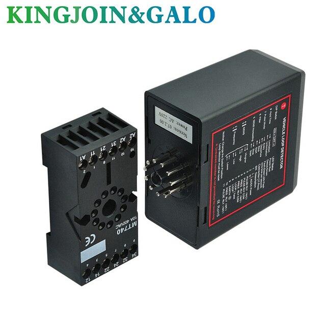 PD132  Vehicle single Loop Detector with 230V AC , 115V AC, 24V DC/AC, 12V DC/AC free shipping OEM