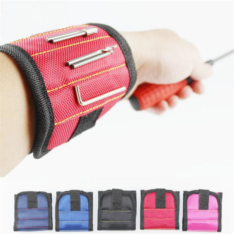 Strong magnetic wristband tool belt holders with Strong Magnets for Holding Screws Nails Drill Bits Repair hand tools organizer(China)