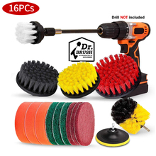 Electric drill brush Set Bathroom Surfaces Tub, Shower, Tile and Grout All Purpose Power Scrubber Cleaning Kit Cleaning brush