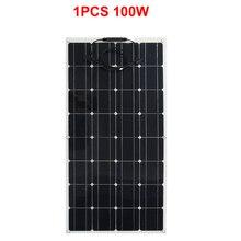 2019 Hot Sales 18V 100W Mono Solar Panel Monocrystalline Flexible Solar cell 12v solar Battery Charger for outdoor use Car Boat