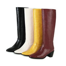 Warm Boots Women Shoes Microfiber Pointed-Toe Large-Size Winter Fashion Western New-Style