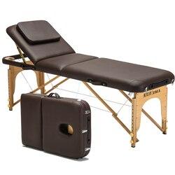 Pieghevole Lettino Da Massaggio Portatile A Casa di Massaggio Fisioterapia Letto Del Tatuaggio Del Tatuaggio di Bellezza Letto In Legno Massello Portatile