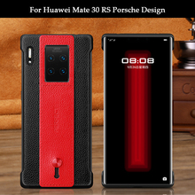 Fashion Phone Case For Huawei Mate 30 RS/ Mate 20 RS/ Porsche Design Luxury Soft TPU Genuine Leather Belt Protection Case Cover