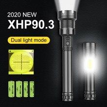Lampe torche tactique haute puissance, torche à main Rechargeable par USB 300000, Zoom, étanche, lampe de poche LED LM, XHP90.3, 18650