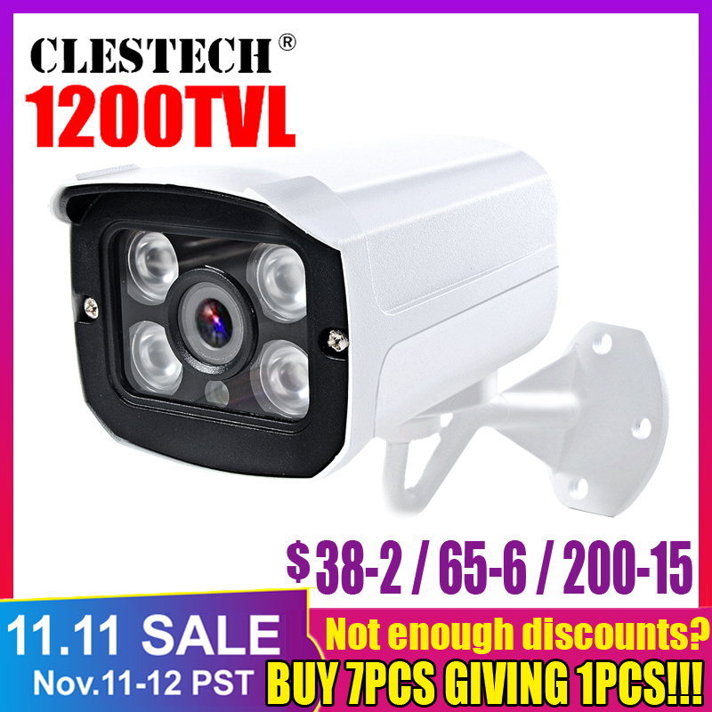 Metallist Real 1200TVL HD videokaamera veekindel IP66 väliturvalisus IR-CUT 4Led massiivi infrapuna 30m Night Vision turvaelement