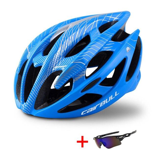Capacete profissional de bicicleta de estrada e de montanha, capacete com óculos ultraleve dh mtb all-terrain esportes equitação ciclismo 6