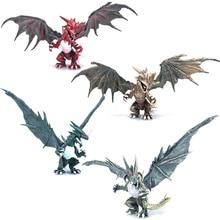 Ensemble de 4 pièces de Dragons de dinosaure à assembler avec ailes, figurines de monstres, jouets éducatifs pour enfants, pour enfants, bricolage classique, 4 pièces/ensemble
