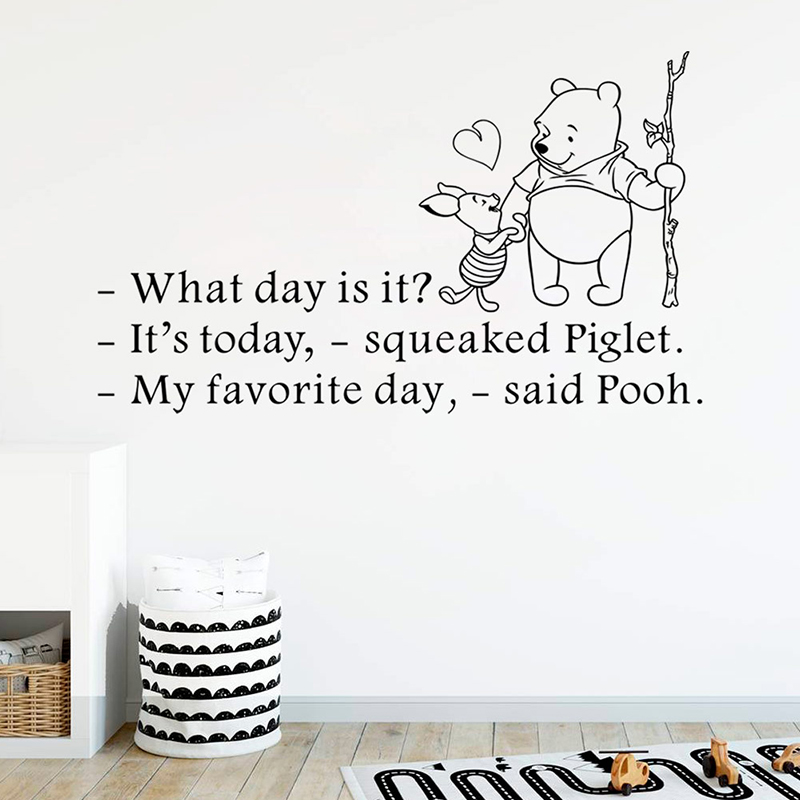 disney winnie the pooh quotes wall stickers what day is it