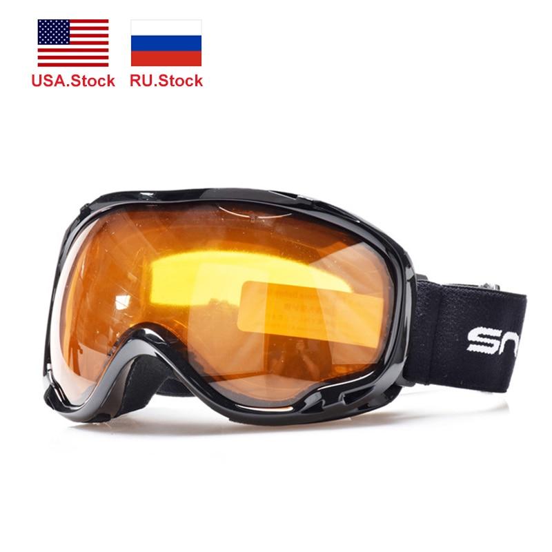 Óculos de esqui de montanha anti-nevoeiro uv400 óculos de esqui camadas duplas snowmobile snowboard neve esporte proteção
