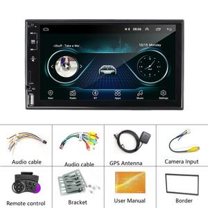 Image 5 - راديو سيارة من AMPrime 2 Din عالي الدقة ستيريو سيارة بشاشة 7 بوصات تعمل باللمس العالمية MP5 راديو سيارة USB FM AUX يدعم الكاميرا الاحتياطية ملحقات السيارة