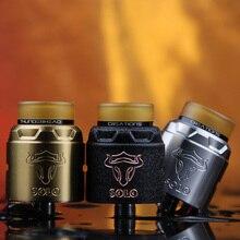 THC Tauren Solo RDA with 2ml Capacity 24mm RDA with Single Coil & 31-micro Air Holes BF Pin Vape Tank Vs Drop RDA/ Loop goon rda
