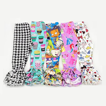 Autumn Kids Ruffle Pants Cartoon Ruffle Leggings for Girls Mermaid Ruffle Pants Toddler Girls Ruffle Leggings Kids Bell Bottoms фото