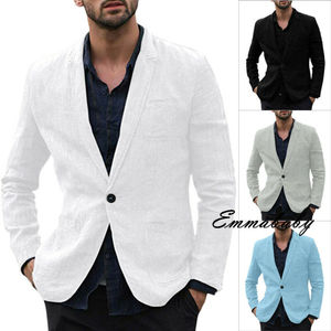 2020 HOT Autumn Men's Pockets Blazer Suit Male Business Slim Fit Jackets Coat Workwear Fashionable white black grey blue M-3XL
