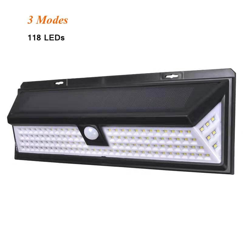 ZAHORIO 118 LED Solar Light Outdoor Solar Lamp Powered Sunlight PIR Motion Sensor Waterproof Street Lamp For Garden Decoration