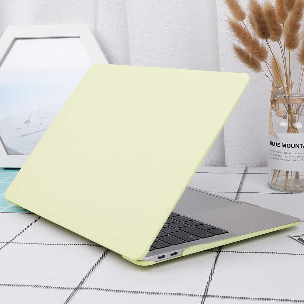 Housse d'ordinateur portable mat pour Apple MacBook Air 13 pouces étui 2018 A1932 Pro Retina 13 15 housse de barre tactile 2019 A2159 A1989 peau de clavier