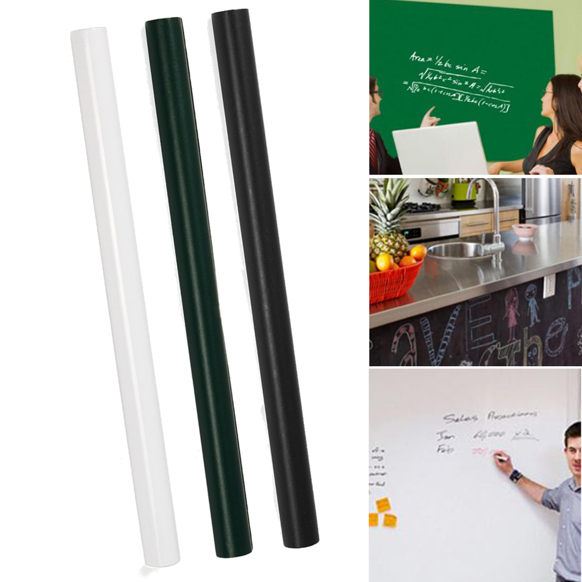 Wallpaper Whiteboard Sticker White Board Self-adhesive Writing Memo Board Removable Wall Sticker For Office School Home