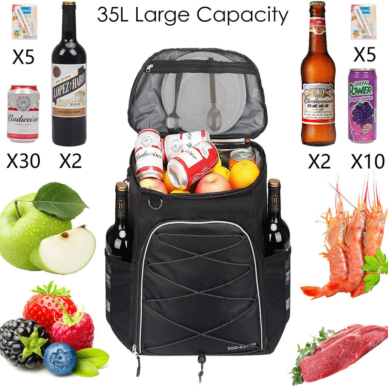 Insulated Food Delivery Backpack,Leak-Proof Reusable Cooler Bag for Bike Delivery,Uber Eats,Doordash,Beach,Camping,Picnics