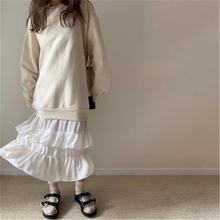Шикарное лоскутное платье свитшот для женщин в Корейском стиле