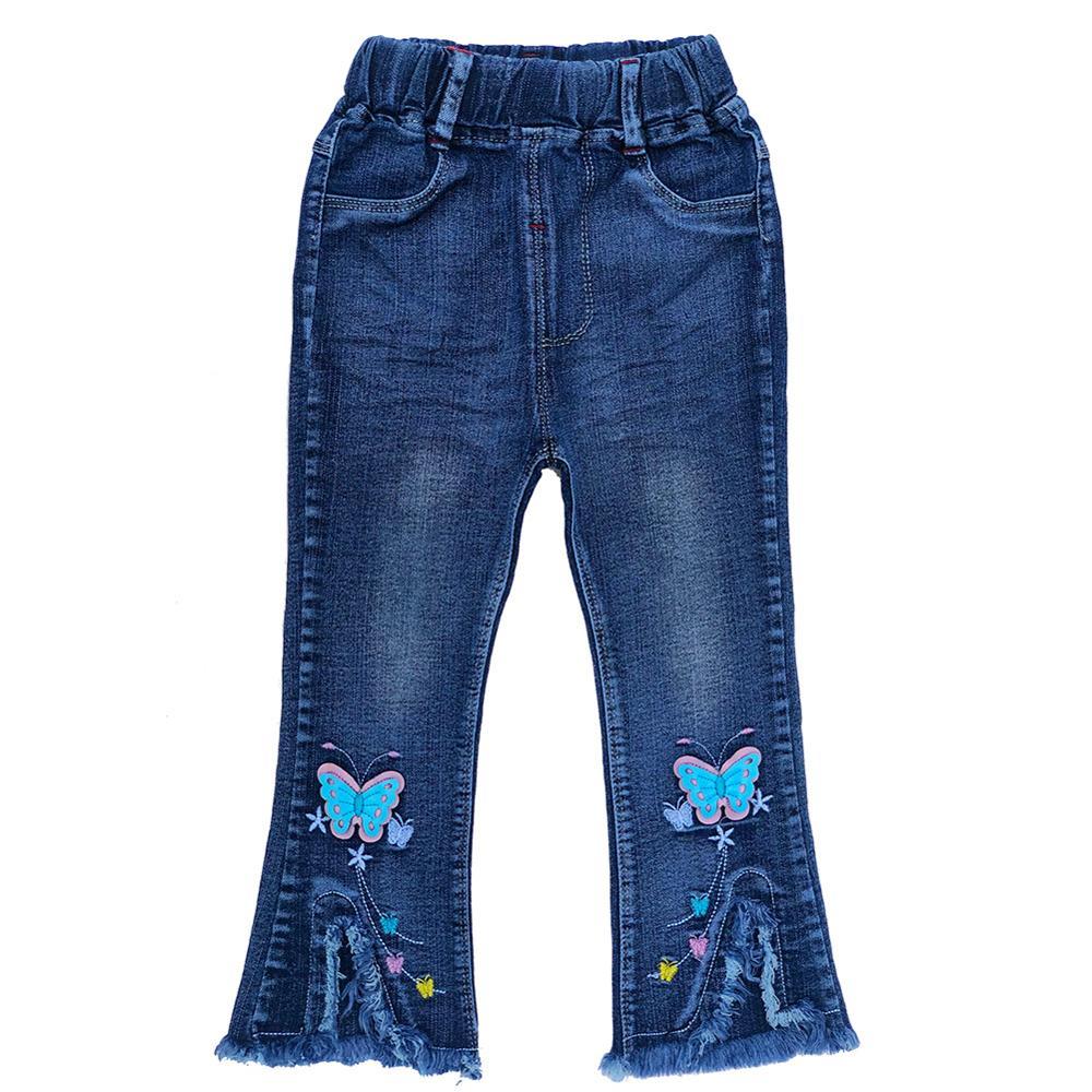 Джинсы для маленьких девочек 18 месяцев-6 лет на весну и осень, джинсовые брюки, ковбойские штаны для девочек, джинсы с разрезами