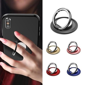 1pcs Thin 360 Degree Rotate Holder Finger Ring Mobile Phone Stand Holder For iPhone X 7 xs max case 6 All Smart car Phone Holder image