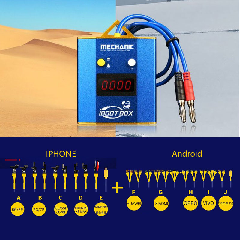 MECHANIC OEM IBoot Box Power Supply Cable For IPhone Android Mobile Phone  Repair Boot Line Motherboard Repair Power Supply
