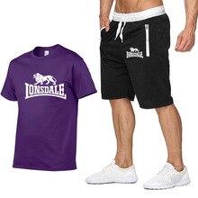 Мужчины спортивный костюм устанавливает укороченные футболки мужские толстовки штаны мужские летние шорты повседневные костюмы спортивная одежда Мужская одежда